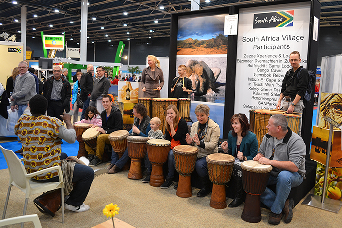 Djembe workshop op de jaarbeurs