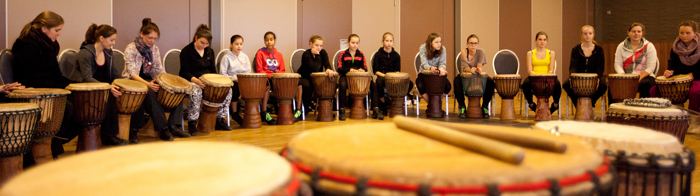 djembe workshop op school