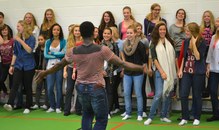 Agbodo Workshops op school